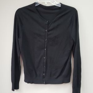 H&M Black Cardigan Button Down Sweater